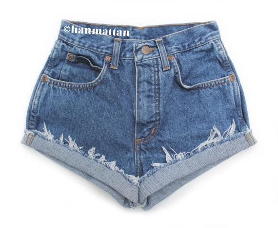 ALL SIZES CLASSIC Vintage highwaisted denim shorts by Hanmattan