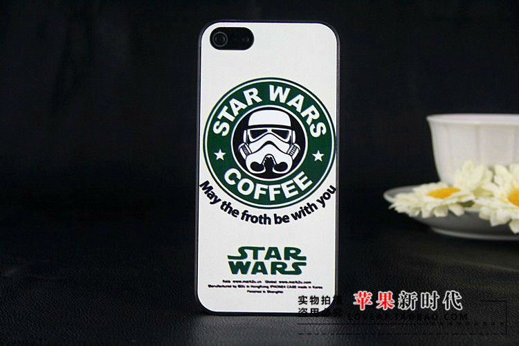 1 piece free shipping Star wars coffee phone case for iphone 5 5G protective case for apple 5-in Phone Bags & Cases from Phones & Telecommunications on Aliexpress.com