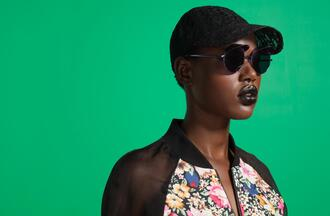 jacket lace lace hat sunnies black sunglasses sunglasses floral floral print jacket mesh jacket sporty sporty jacket lookbook nastygal nastygal.com shopnastygal.com black and floral hat