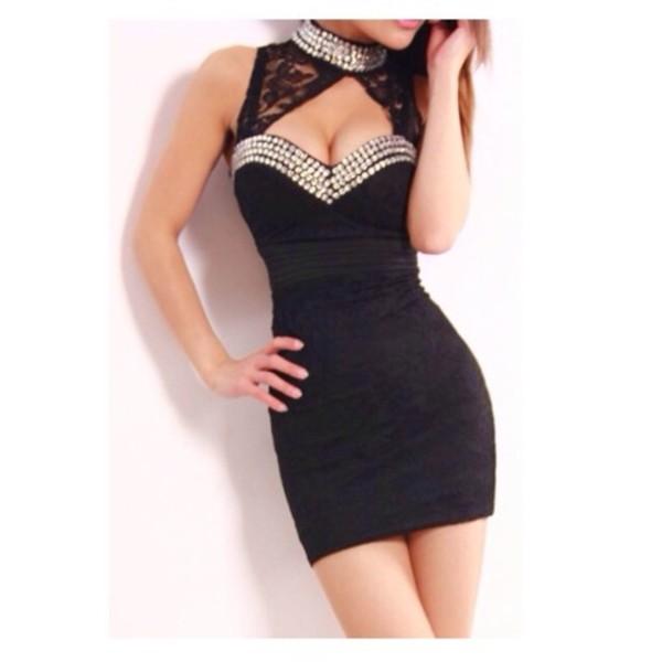 dress dress little black dress lace dress bodycon dress