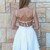 White Party Dress - White Tie Back Sleeveless Frill | UsTrendy
