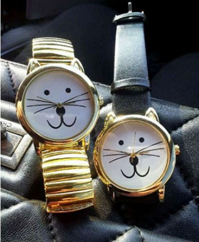 Vintage Cat Face Watch - Watches - Jewellery - Bags & Accessories