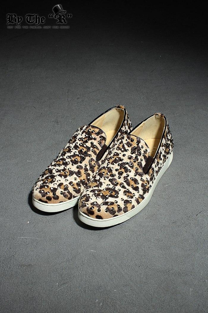 Mens 7019 Leopard Stud Slip-on Flats Shoes Byther Korea Fashion   eBay