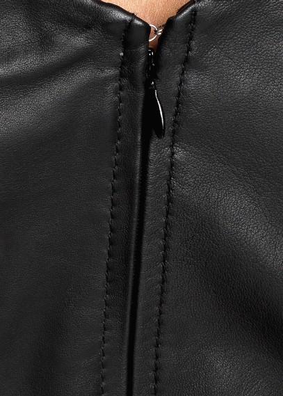 MANGO - CLOTHING - Dresses - Padded shoulder leather dress