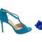 Blue suede stilettos