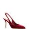 Red velvet slingback heels by dolce & gabbana   moda operandi
