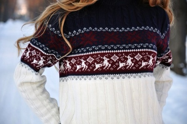 sweater christmas sweater christmas holiday season deer red sweater winter sweater