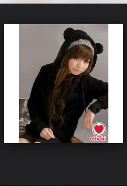 jacket black jacket bear
