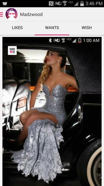dress lace dress silver. sequin dress bedazzled dress homecoming long dress dance formal dress