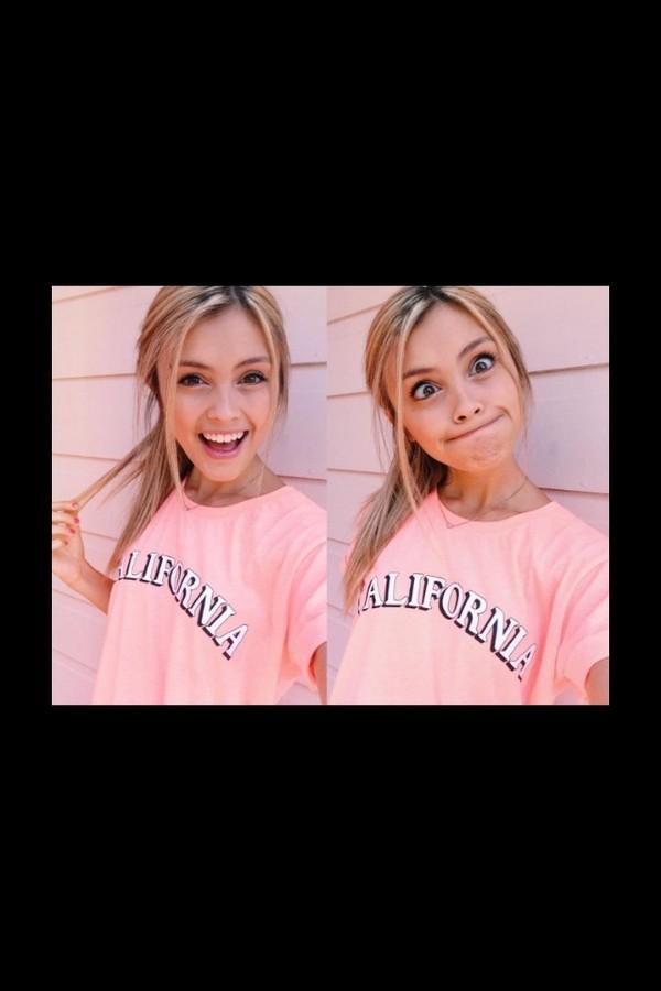 shirt t-shirt coral peach california summer girl funny