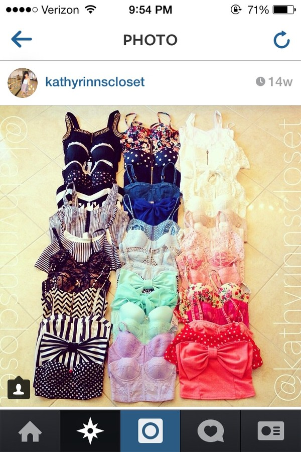 blouse black white blue green red yellow pink orange bow purple crop top bustier bralette floral tank top shirt