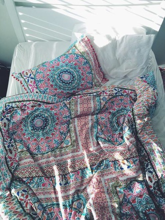 home accessory bedding duvet cute boho chic bohemian colorful home decor mandala beach house blanket boho patterned blanket paisley boho decor bedroom tumblr bedroom bohostyle urban outfitters girly boho bedding colorfu comforter covers colorful comforter bohemian bedding bohemian comforter round mandala
