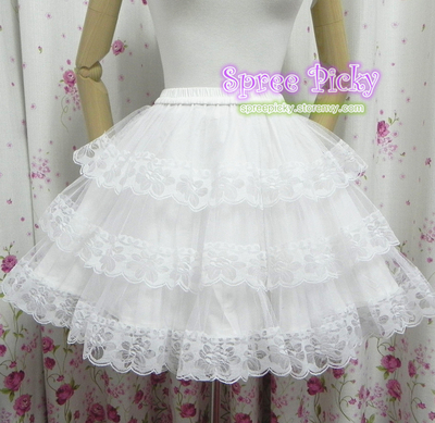 Lolita Kawaii Cute Lace 3 layers Petticoat Free Shipping SP130194 · SpreePicky · Online Store Powered by Storenvy