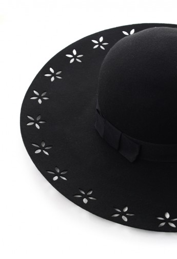 Chicwish Cut Out Floral Floppy Hat - Retro, Indie and Unique Fashion
