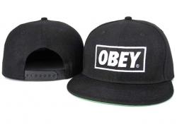 Obey Snapback Hat&Cap Black Cheap [Obey011] - $7.50 :