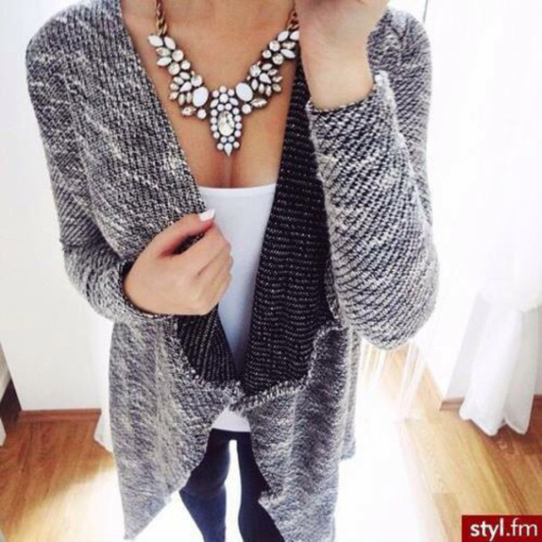jewels necklace grey