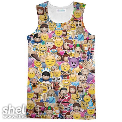 Emoji Madness Tank Top – Shelfies - Outrageous Sweaters