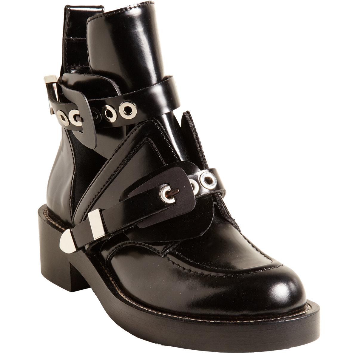 Balenciaga Buckle Strap Ankle Boot at Barneys.com