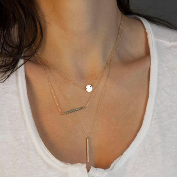 jewels pendant accessories necklace layer