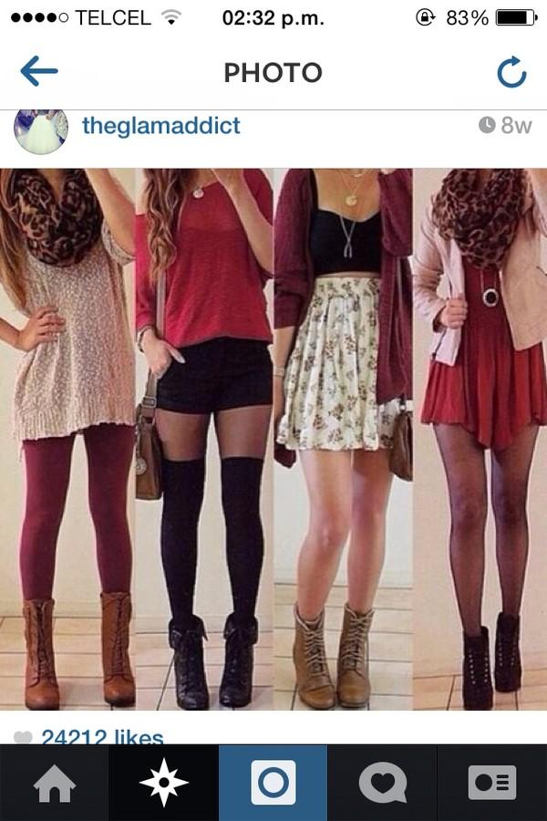 shoes high heels boots heel boots flats jacket sweater skirt dress shorts