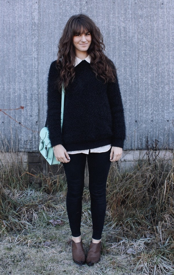the mop top sweater blouse shoes bag