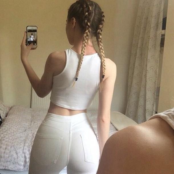pants white pants