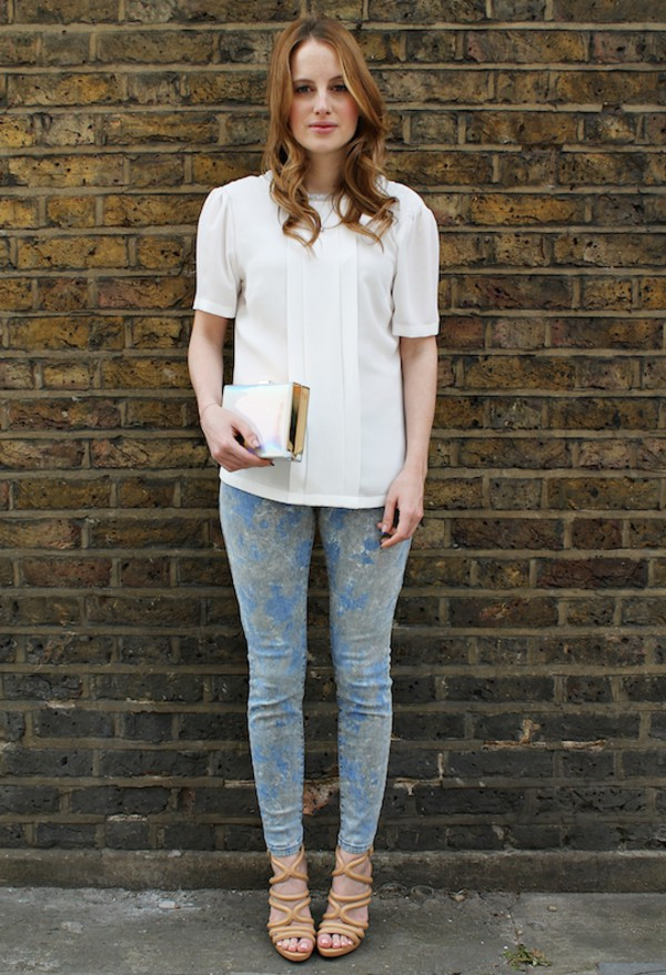 at fashion forte shirt jeans jewels bag shoes Rosie Fortescue blouse
