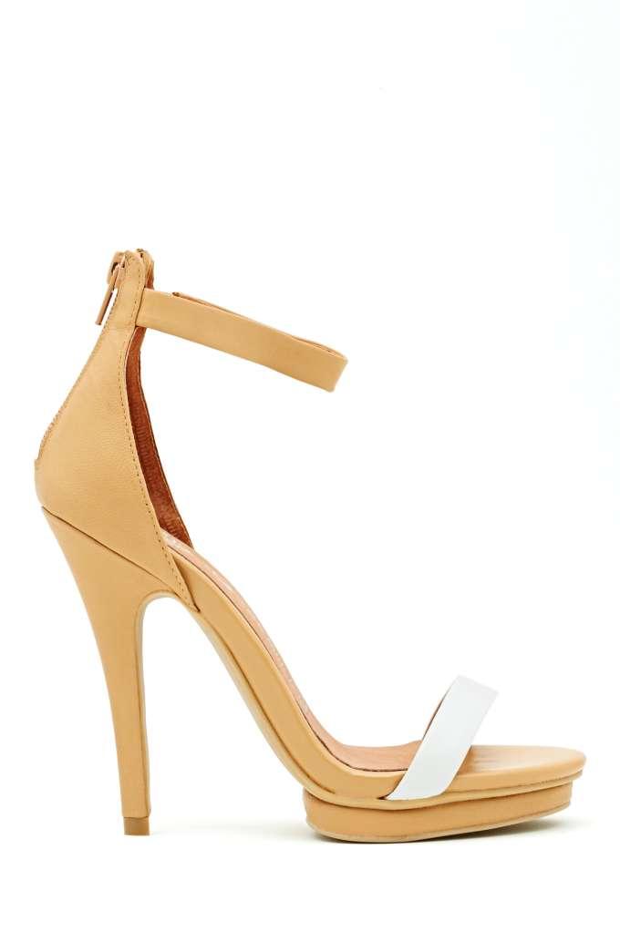 Jeffrey Campbell Burke Platform Heel - Nude in  Shoes at Nasty Gal
