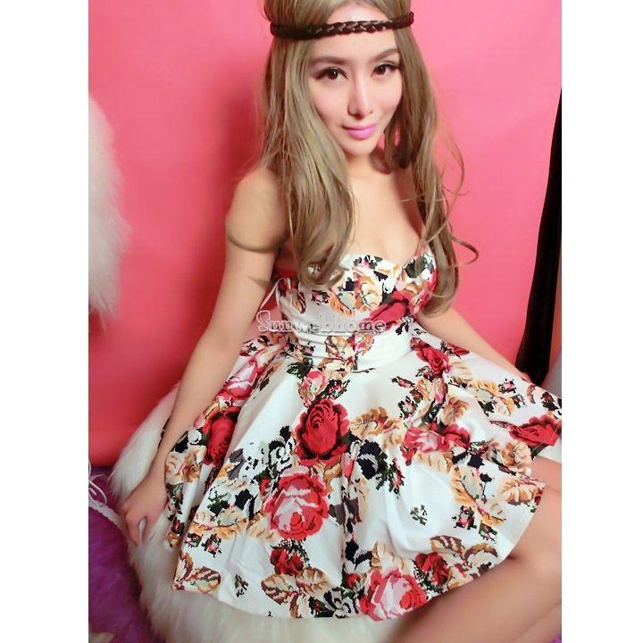 Women Sexy Off Shoulder Sleeveless Backless Slim Flower Club Cocktail Mini Dress   eBay
