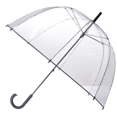 Totes Clear Bubble Umbrella - Silver Trim : Target