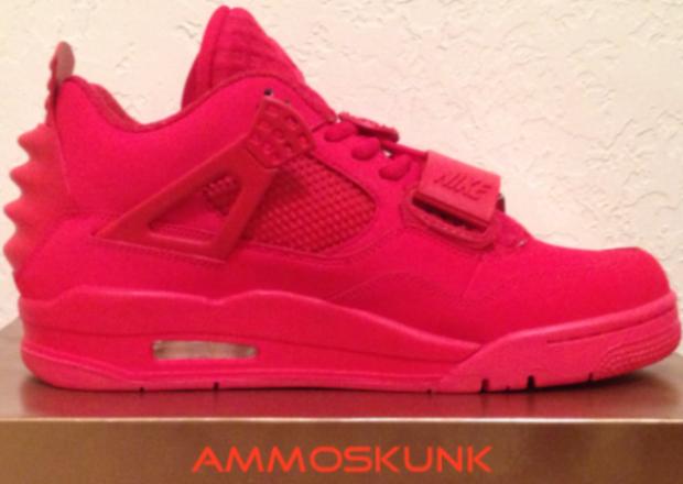"Air Jordan 4 ""Red October Yeezy Revelation"" Custom  | NiceKicks.com"