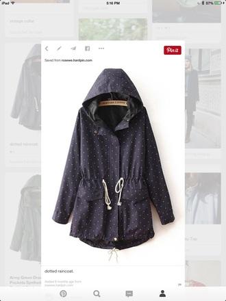 coat dotted raincoat
