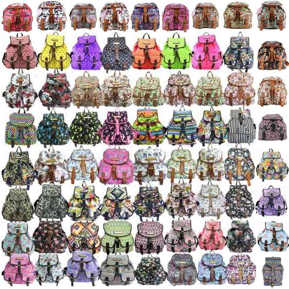 Ladies Designer Retro Cartoon Owl Comic Backpack Rucksack Shoulder School Bag | eBay