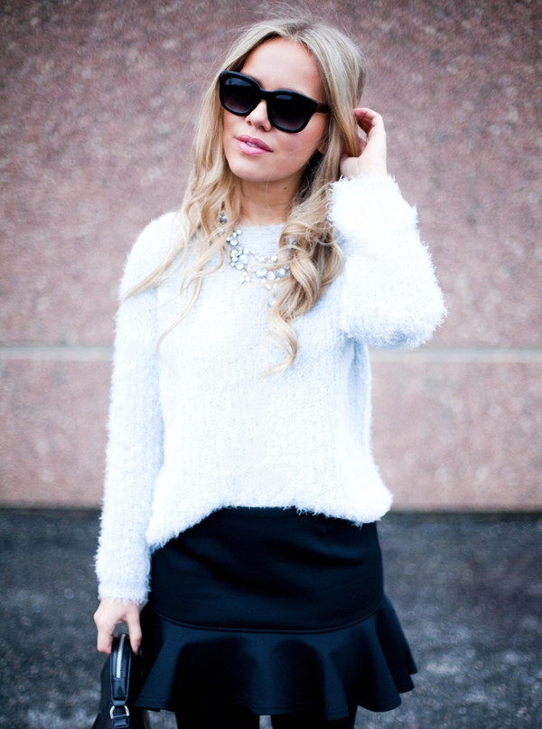 cath in the city sweater jewels skirt shoes bag