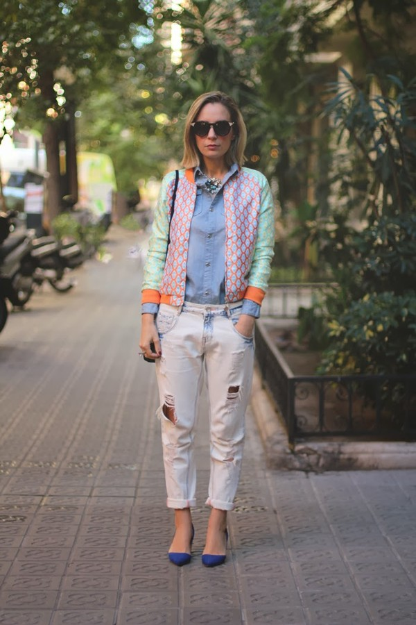 my showroom jacket jeans shirt jewels t-shirt shoes sunglasses