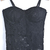 Black Spaghetti Strap Hollow Lace Vest - Sheinside.com