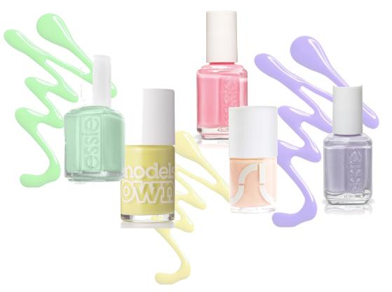 Pastel Nail Polish    Nail Art Designs