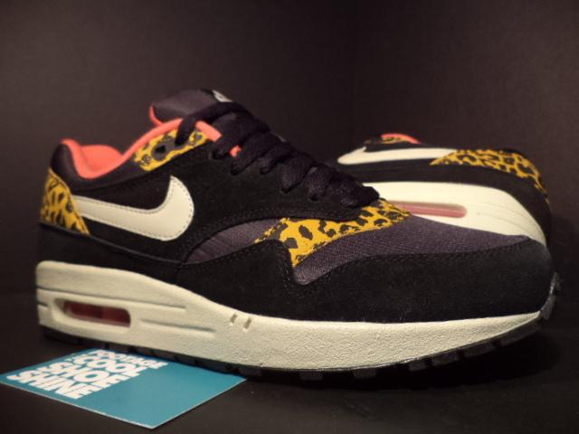 2013 Nike Air Max 1 Leopard Animal Pack Black Pink Orange Gold 319986 026 6 5 8 | eBay