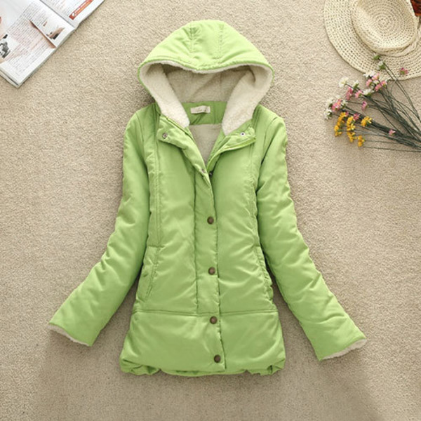 coat hood solid color slim