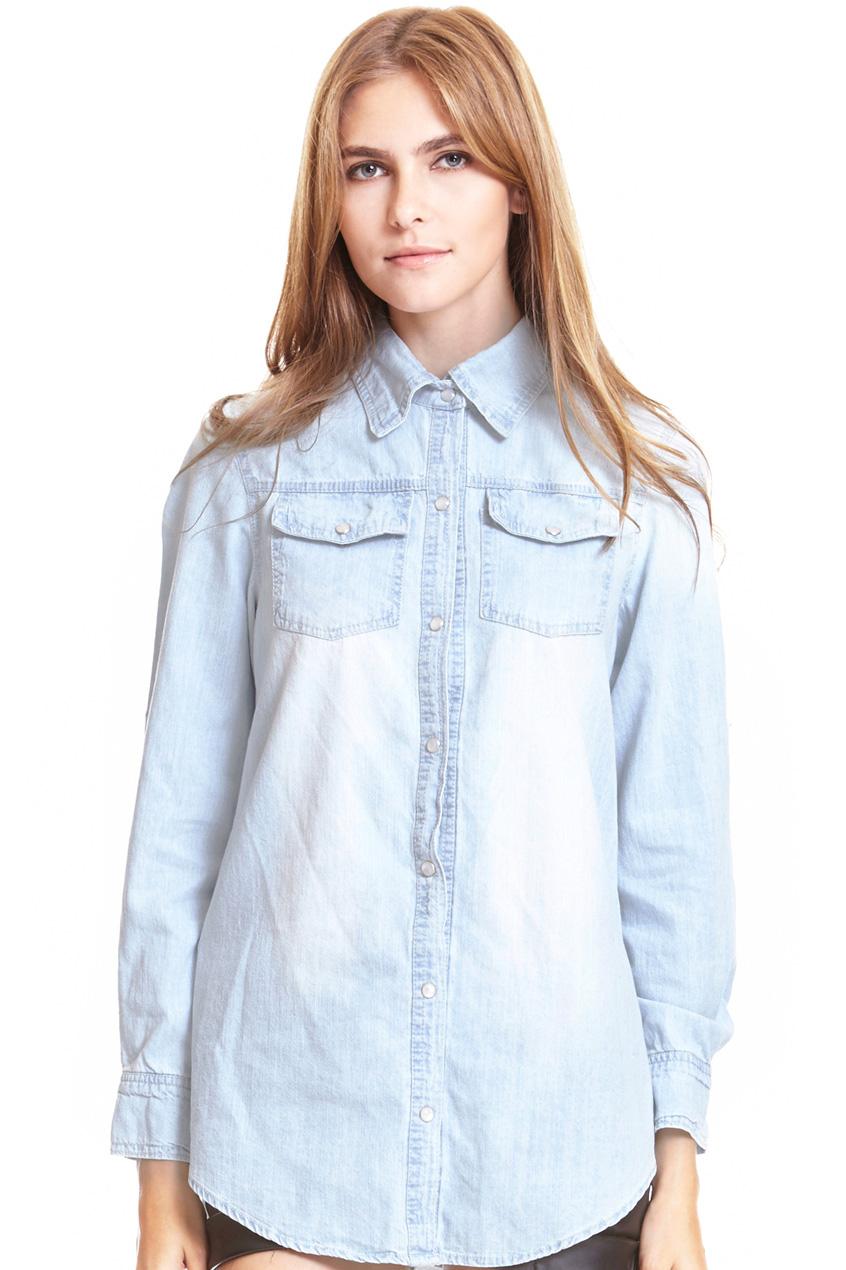 ROMWE | Buttoned Pockets Dark-blue Shirt, The Latest Street Fashion