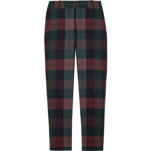 Theory Testra plaid wool pants - Polyvore