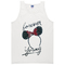 Forever young minnie mouse adult tank top - basic tees shop