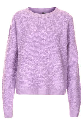 Lilac Bobble Jumper by Boutique - Knitwear  - Clothing  - Topshop