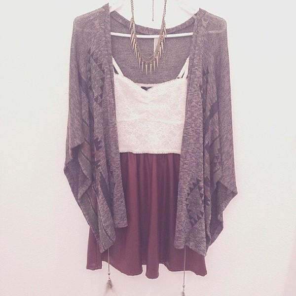 skirt clothes dress sweater
