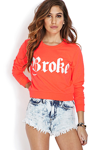 Broke Cropped Sweatshirt | FOREVER21 - 2000105811