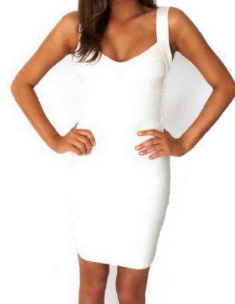 Amazon.com: celebritystyle white backless bodycon bandage dress (M): Clothing