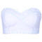 Romwe   blue dotted embroidered white bandeau, the latest street fashion