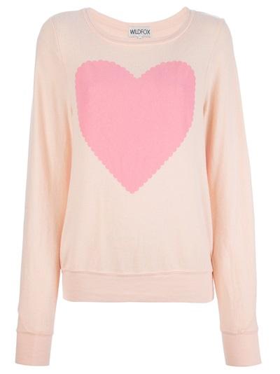 Wildfox Heart Print Sweater - Petra Teufel - Farfetch.com