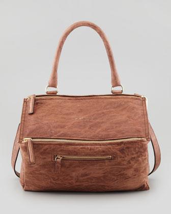 Givenchy Pandora Medium Old Pepe Satchel Bag, Light Brown