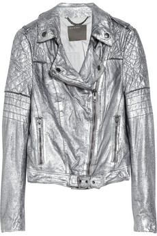 Minsk metallic quilted leather biker jacket | Muubaa | THE OUTNET